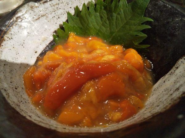 てっぺん 渋谷 女道場 ホヤの塩辛